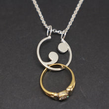 Load image into Gallery viewer, Semicolon Ring Holder Necklace