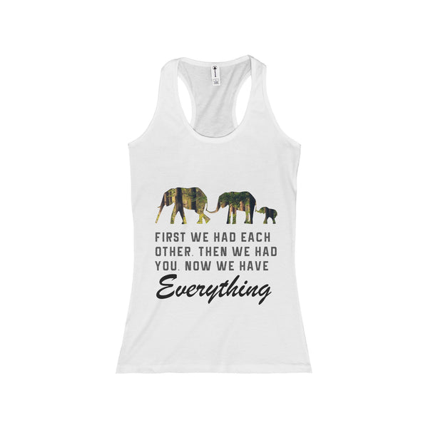 Elephant Print Design Women Tank Top