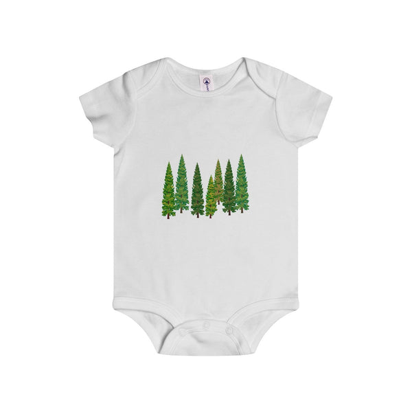 Pine Tree Infant Baby Rip Snap Tee