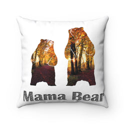 Grizzly Bear Polyester Pillow