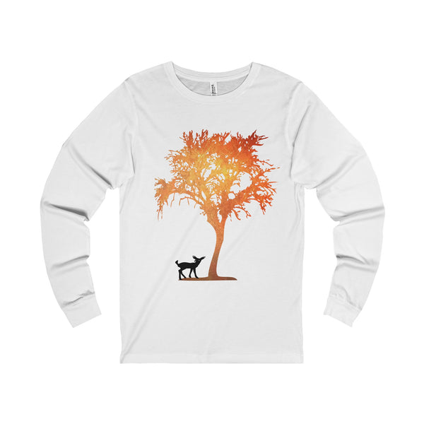 Fox and Deer Long Sleeve Women Shirt