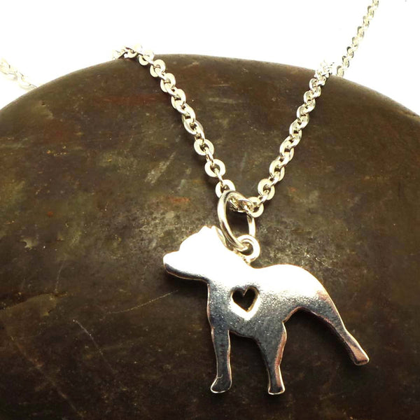 925 Silver Dog Pitbull Necklace Jewelry