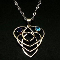 Celtic Knot Heart Motherhood Necklace