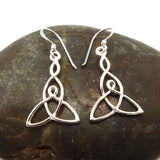 Silver Celtic Mother Child Knot Earring