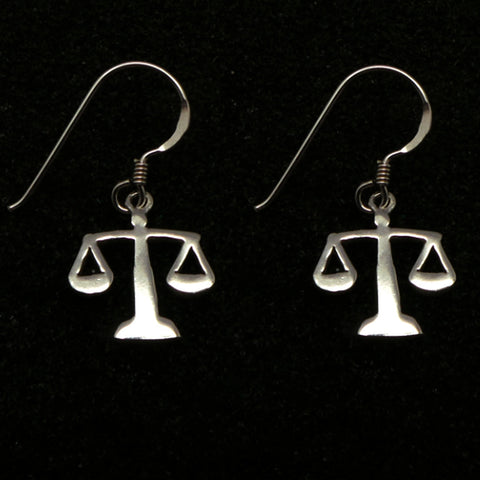 Silver Lawyer Graduation Hoop Earring