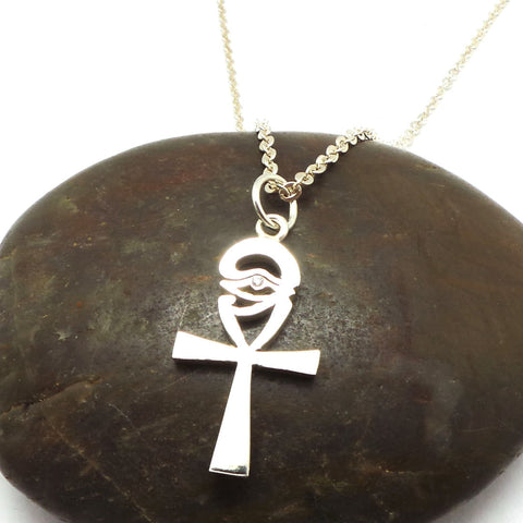 Egyptian Eye of Horus Ankh Necklace