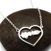 Load image into Gallery viewer, Personalized Hidden Message Sound Wave Necklace