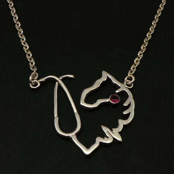 Veterinarian Nurse Horse Stethoscope Necklace