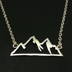 Sterling Silver Mountain Range Necklace