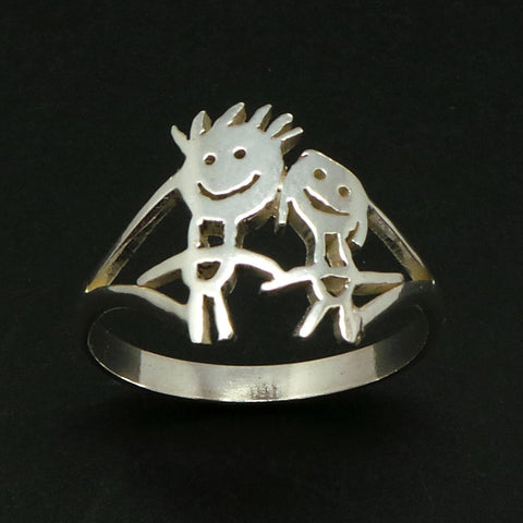 Personalized Kids Art Ring