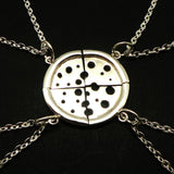 Silver Pizza Set Necklace for Best Friend Gift