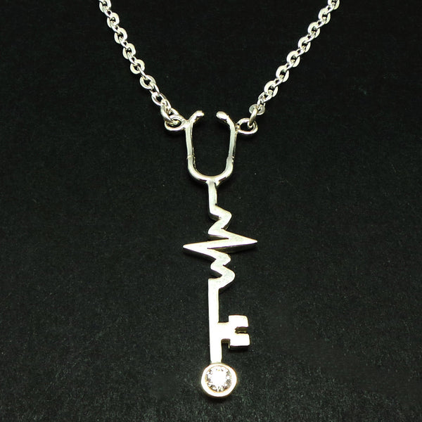 Nurse Stethoscope Key Necklace
