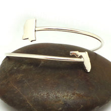 Load image into Gallery viewer, Silver Alabama to Florida Bracelet