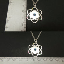 Load image into Gallery viewer, Silver Atom Symbol Necklace