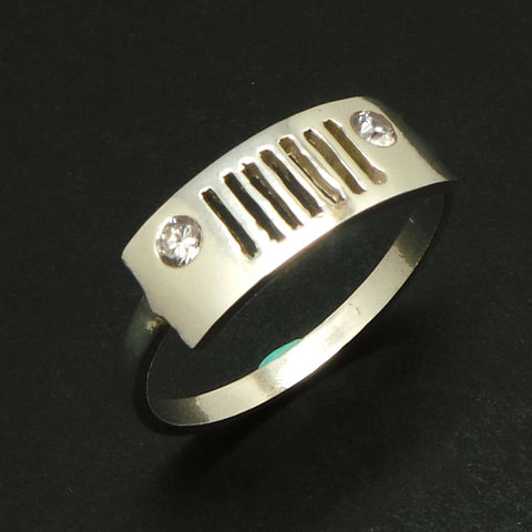 Sterling Silver Jeep Ring
