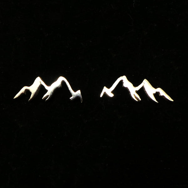 Sterling Silver Mountain Range Stud Earring