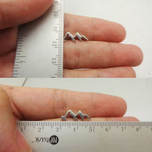 Load image into Gallery viewer, Sterling Silver Mountain Range Stud Earring