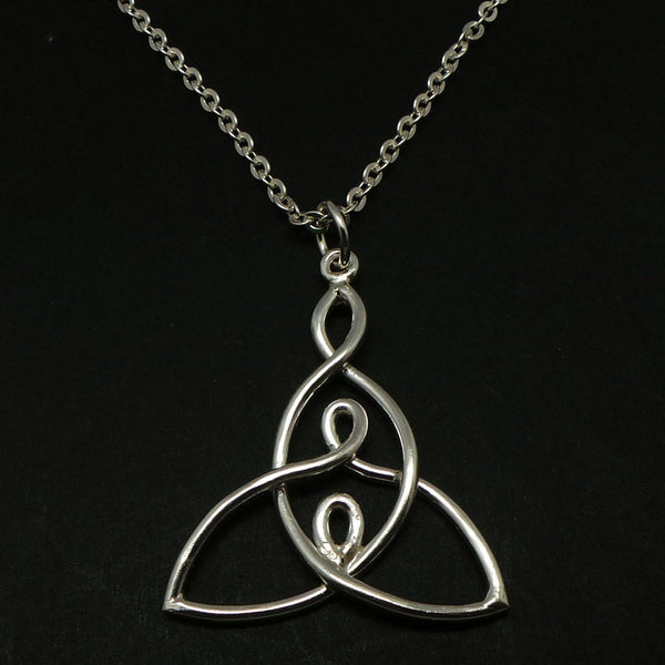 Celtic Mother and 2 Child Knot Necklace