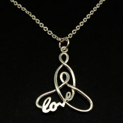 Silver Celtic Knot Mother and Child Necklace
