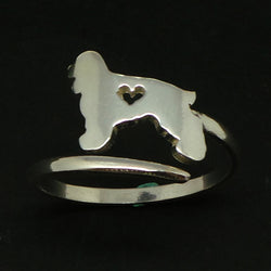 Silver Dog Cooker Spaniel Ring