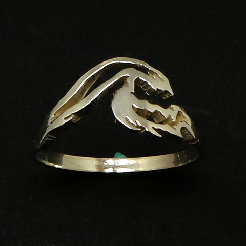 Silver Big Wave Ring