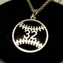 Baseball Necklace with Number