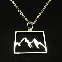 Mountain Range Colorado Necklace