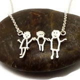 Personalized Kid Art Drawling Necklace Choker