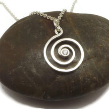 Load image into Gallery viewer, Silver Spiral Ring Holder Necklace