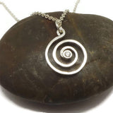 Silver Spiral Ring Holder Necklace