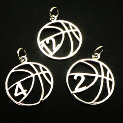 Personalized Custom Number Basketball Necklace