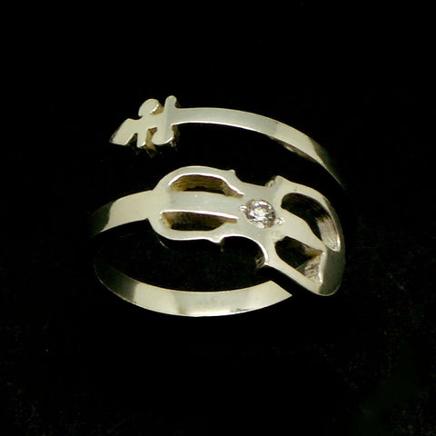 Sterling Silver Guitar Ring