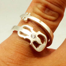 Load image into Gallery viewer, Sterling Silver Guitar Ring
