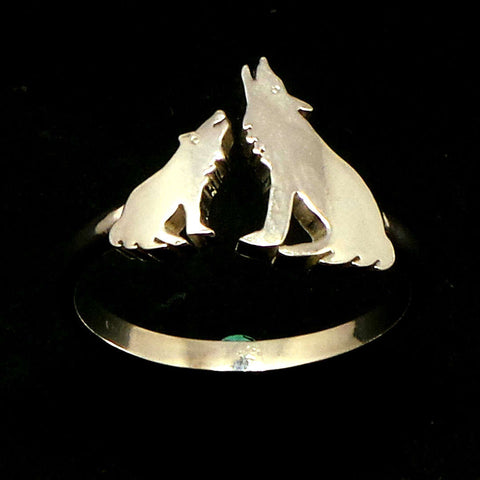 Silver Wolf Ring for Women