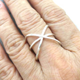 Sterling Silver Criss Cross Ring