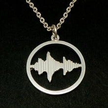 Load image into Gallery viewer, Personalized Round Sound Wave Necklace Pendant