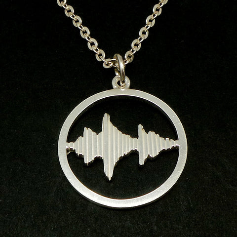 Personalized Round Sound Wave Necklace Pendant
