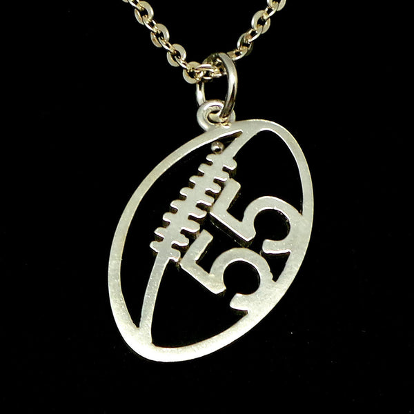 Personalized Football Number Necklace