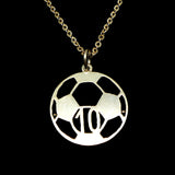 Personalized Soccer Ball Necklace with Number