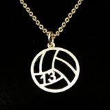 Personalized Number Volleyball Necklace