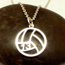 Load image into Gallery viewer, Personalized Number Volleyball Necklace
