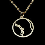 Tennis Ball Necklace with Name