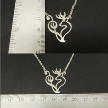 Load image into Gallery viewer, Silver Music Note Deer Alter Necklace
