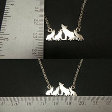 Load image into Gallery viewer, Mother and Child Wolf Necklace
