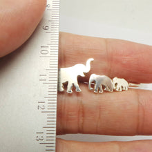 Load image into Gallery viewer, Silver 3 Elephants Bracelet