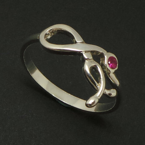 Silver Stethoscope Infinity Ring