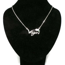 Load image into Gallery viewer, Silver Vegan Necklace Choker