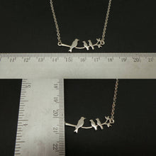 Load image into Gallery viewer, Silver Mother and 2 Childs Birds Necklace