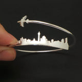 Personalized Plane Berlin Skyline Bracelet