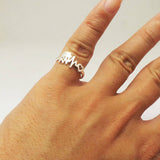 Silver Registered Nurse Heartbeat Ring